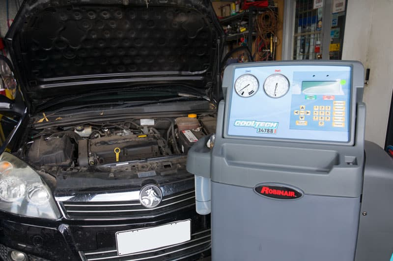 cooltech vehicle air conditioning repairs underway