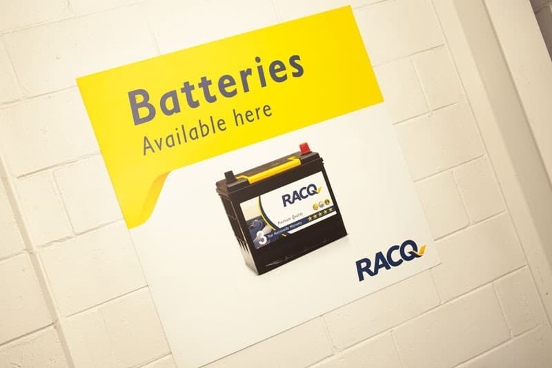 batteries available poster